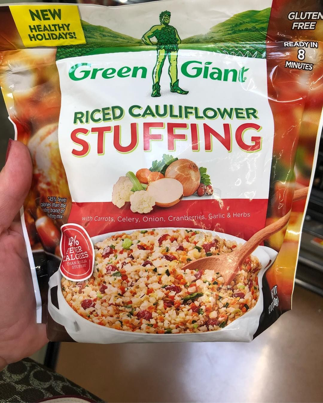 Green Giant added Riced Cauliflower Stuffing to its line