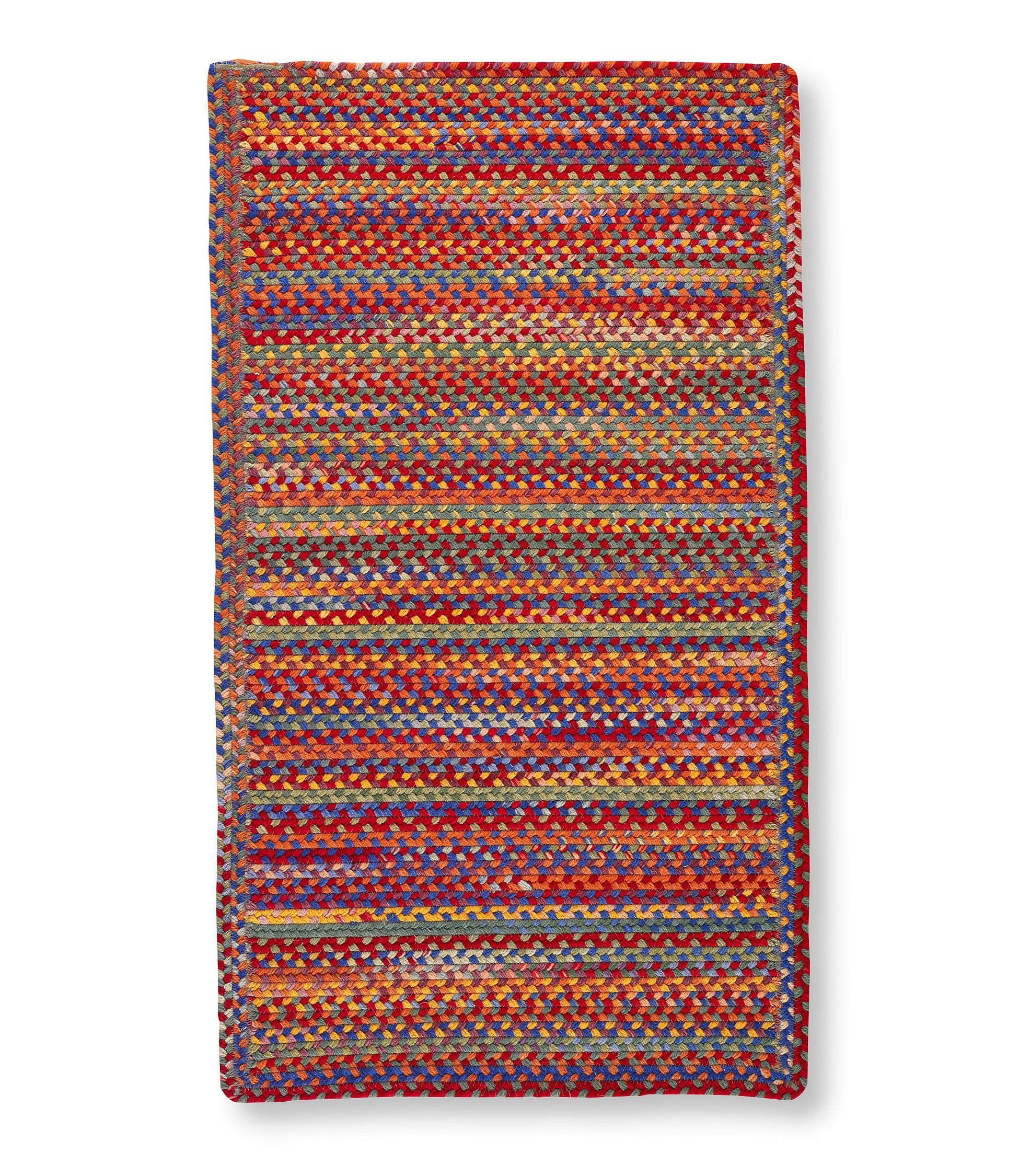 All Weather Braided Runner Concentric Pattern Rectangular Rugs