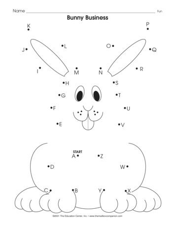 It S As Easy As Abc Connect The Dots In Alphabetical Order Color The Bunny And Then Write Or T Alphabet Worksheets Preschool Easter Preschool Dot Worksheets