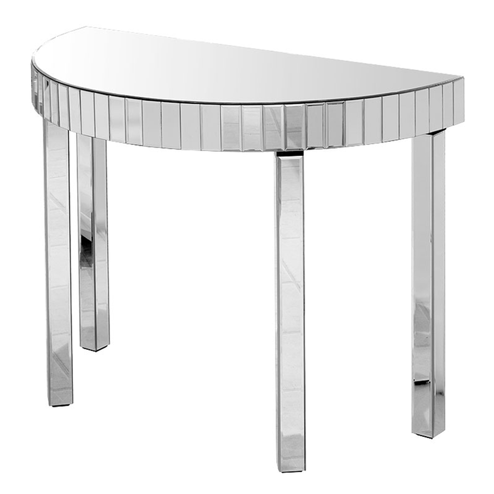 fabulous mirrored furniture. Alexis Half Moon Mirrored Console Table, Fabulous Furniture From Www.serendipityhomeinteriors.com