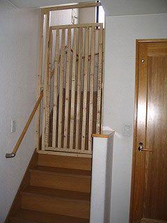 階段に猫帽子 猫フェンス 猫 ねこ インテリア