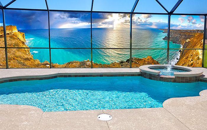 Privacy Screen For Pool Enclosure Redboth Com In 2020 Pool Enclosures Outdoor Privacy Pool
