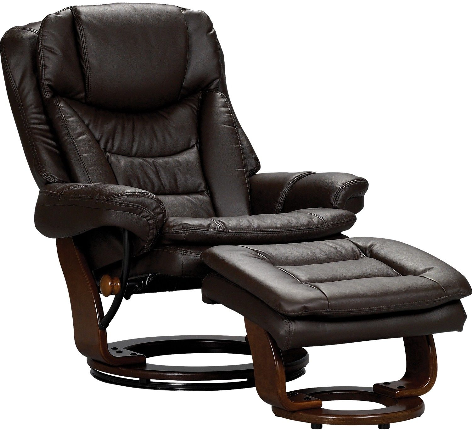 Flynn Bonded Leather Reclining Chair Bonded leather Living room