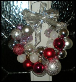 Bauble Wreath Craft Project - Diary of a First Child