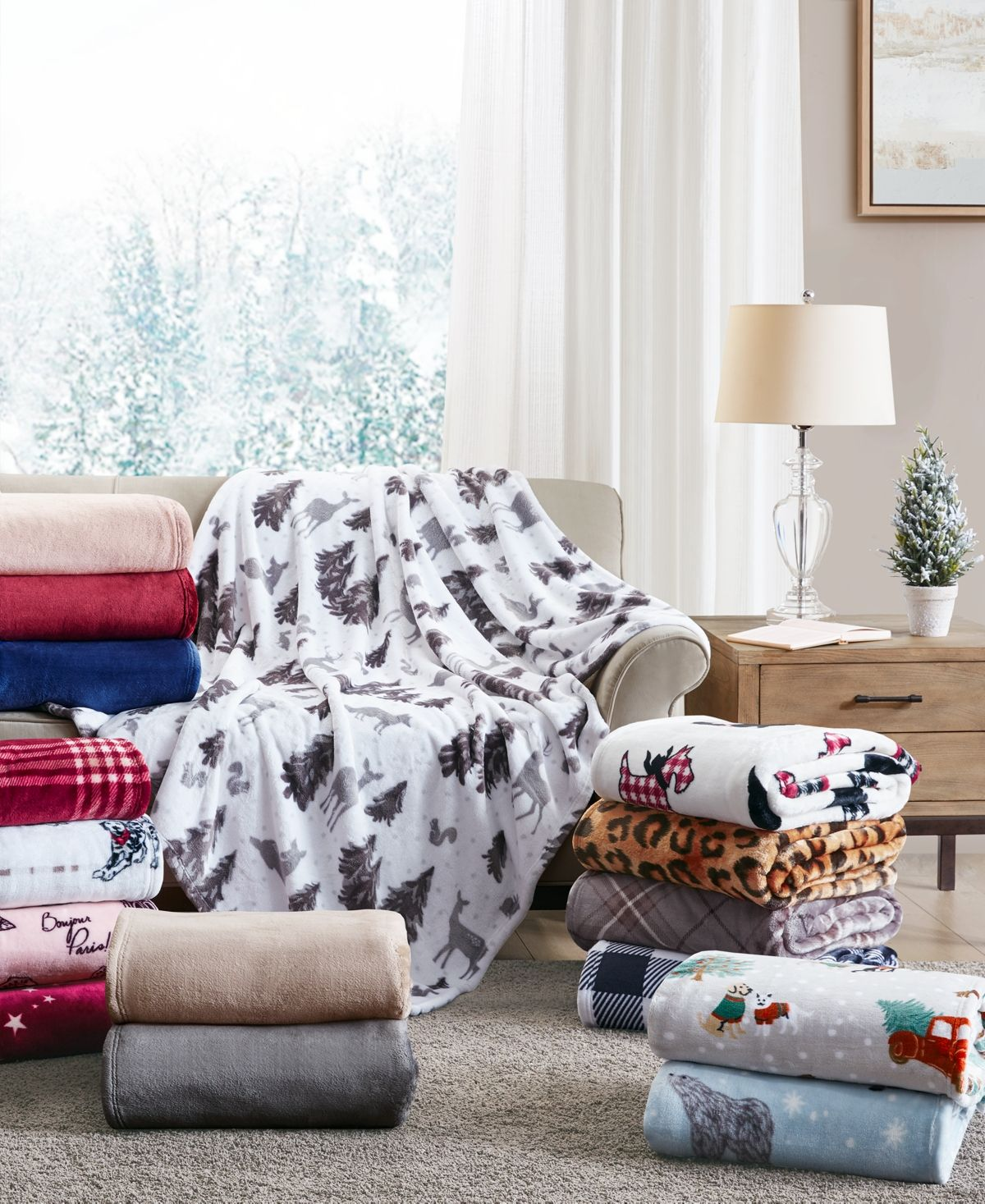Crafted with soft plush fabric, this Charter Club plush throw adds cozy comfort and style to any room.