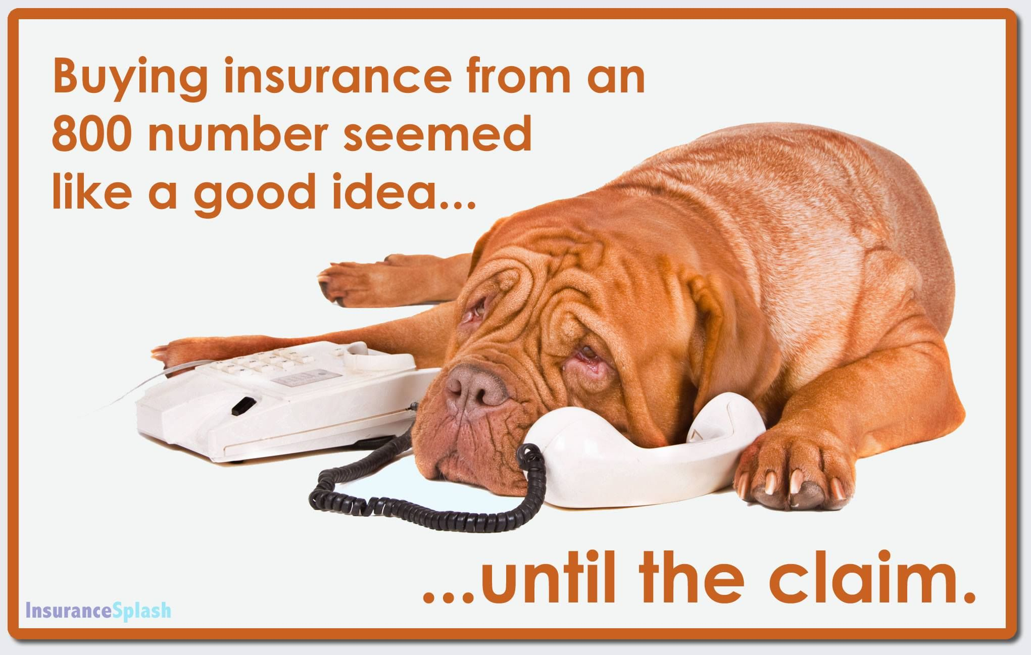 Guess how much experience do call-center reps have with insurance claims? ZERO. Buying insurance online may seem convenient at the time of purchase, but it's when you NEED it the most that a local agent's service is invaluable. There's no need to choose between having great insurance coverage at affordable rates... our clients get both!  #InsuranceHumor via @insurancesplash