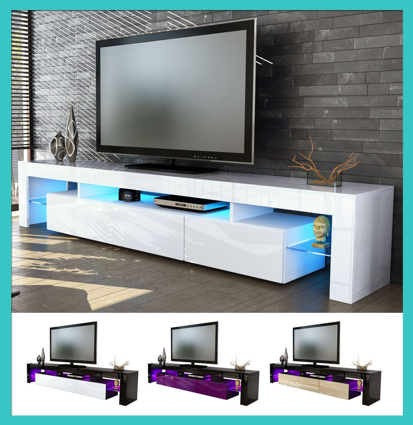Mobile tavolo porta TV moderno laccato lucido salotto soggiorno sala ...