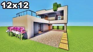 MINI MAISON ULTRA MODERNE 12X12 sur MINECRAFT TUTO !! | Minecraft ...