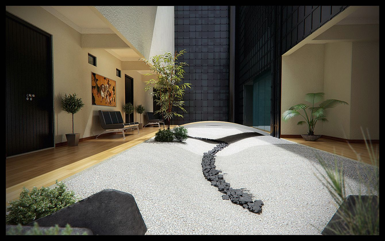 Zen interior extraordinary magnificent zen interior design for Interior zen garden