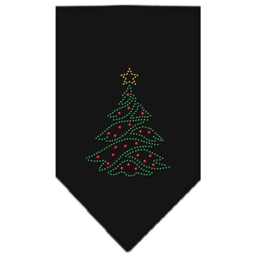 Christmas Tree Rhinestone Bandana Black Small
