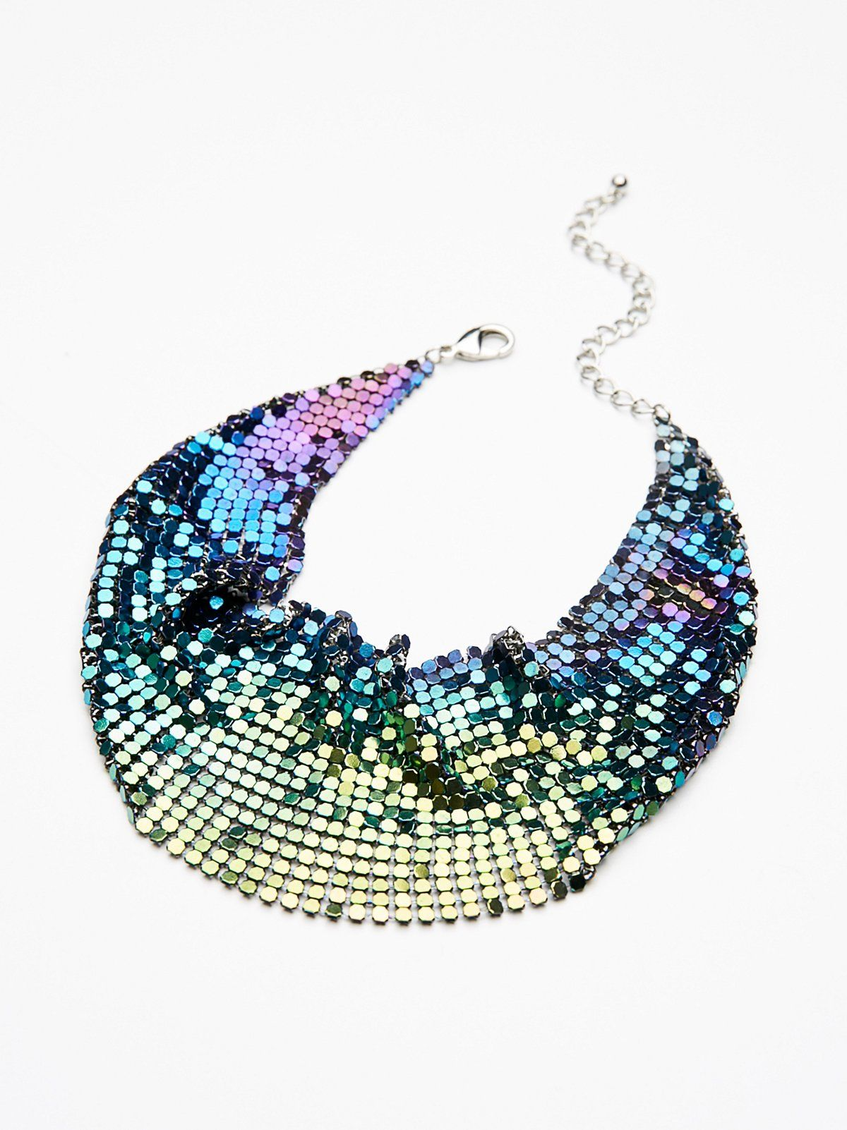Mermaid Mirror Mirror Chainmail Choker at Free People Clothing Boutique