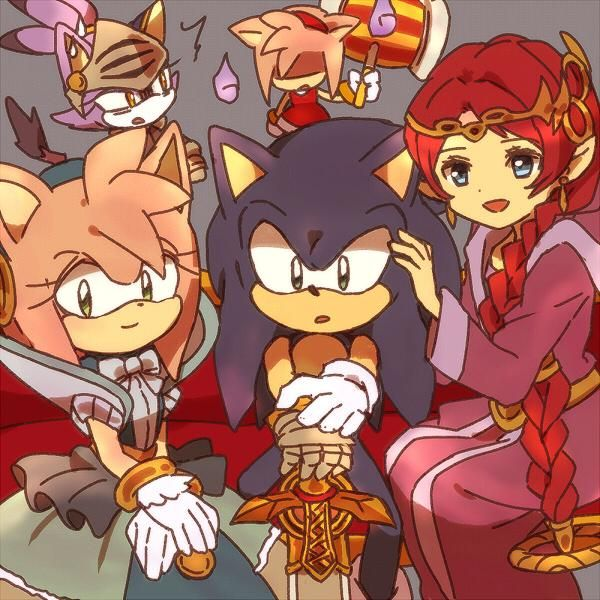 Sonic and the Black Knight girls, I think that Nimue, Percival and Merlina are in troubles with Amy xD