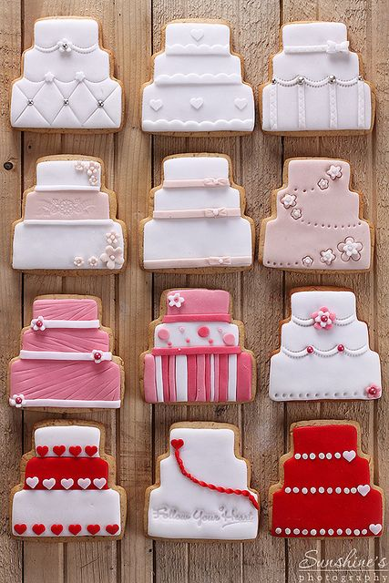 pretty wedding cookies via #TheCookieCutterCompany