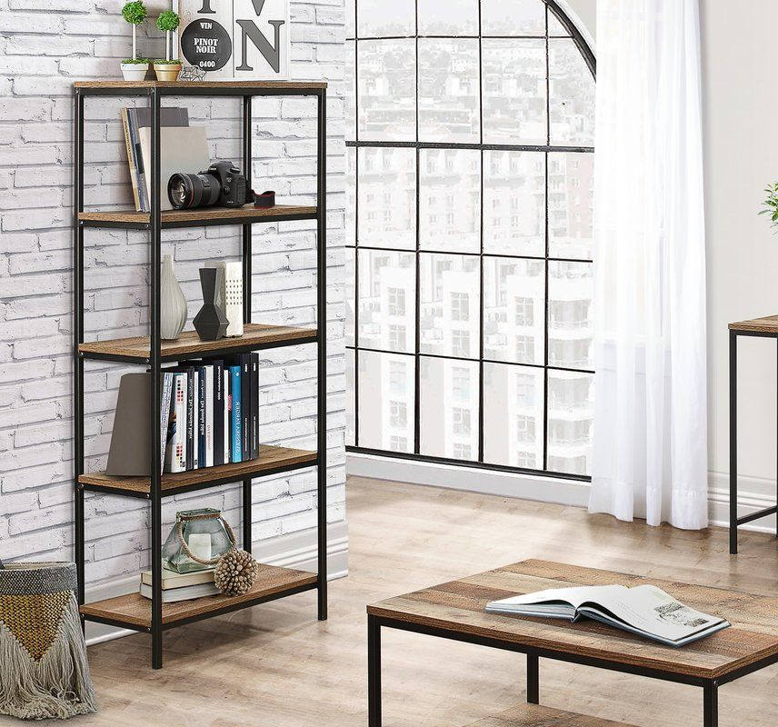 Amesbury 5 Tier Bookcase Industrial chic, Industrial style and