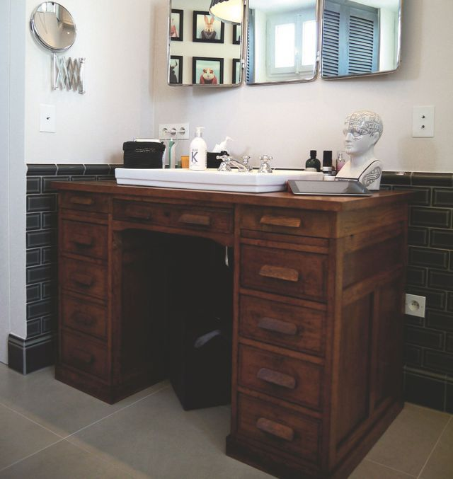 diy meuble de salle de bains 3 id es pour un relooking. Black Bedroom Furniture Sets. Home Design Ideas