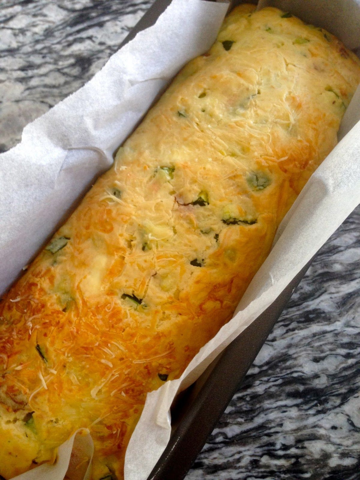 Savoury Cake made with fresh goat cheese, zucchini and sundried tomatoes