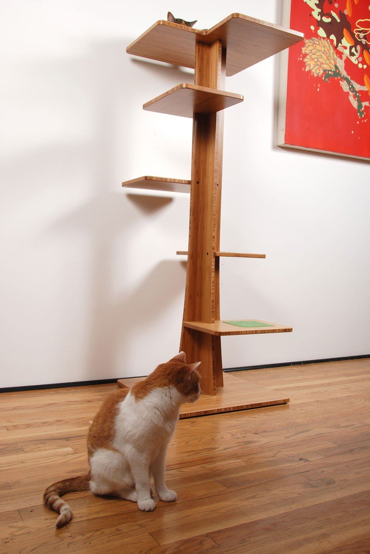 Modern Cat Tower 5 Tall Baobab Model Square Cat Habitat Cat Habitat Modern Cat Tree Cat Tree