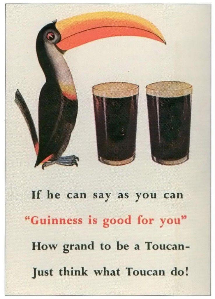 Guinness toucan 1935 color guinness guinness beer guiness