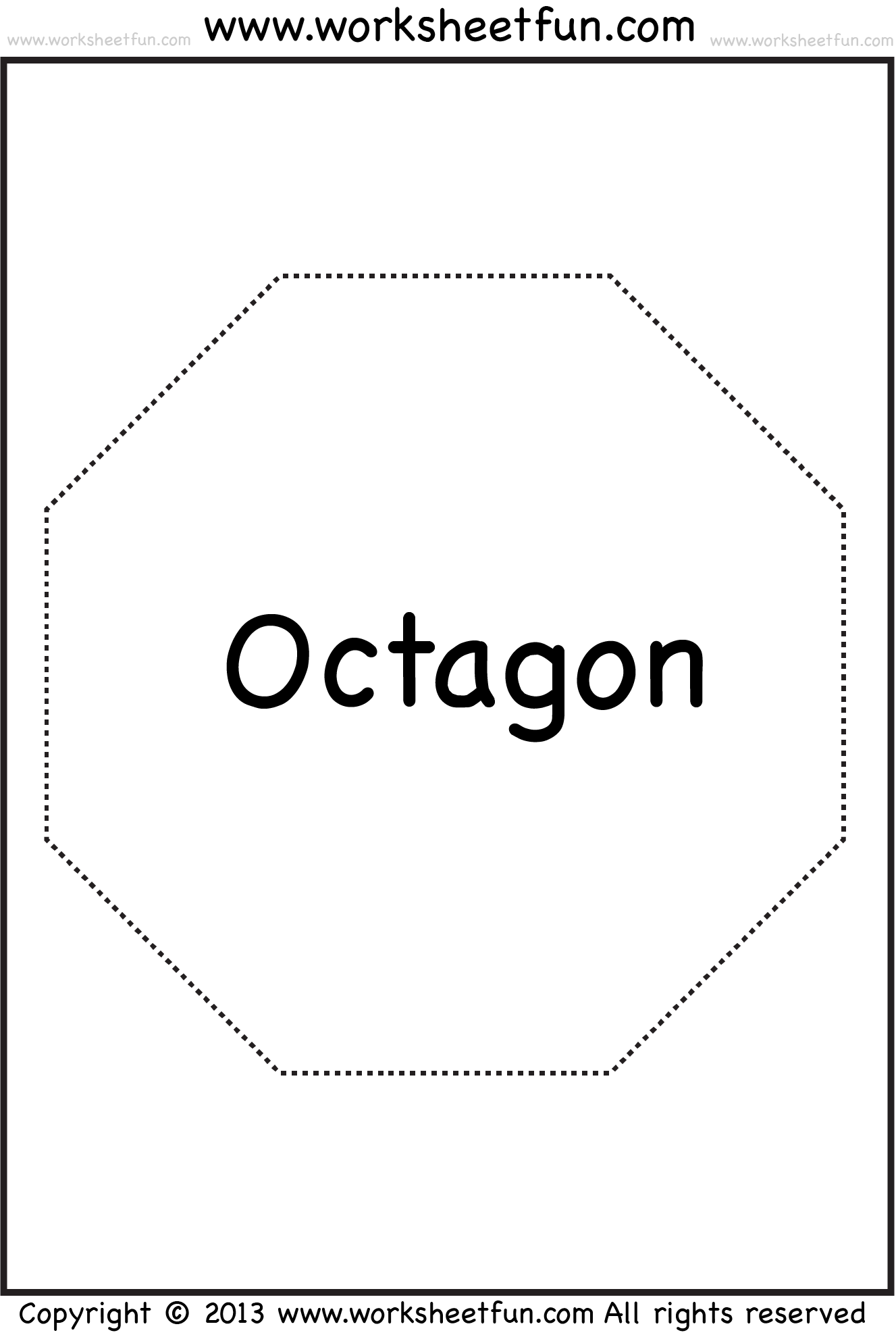 Octagon  Math    Worksheets Shapes Worksheets And