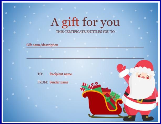 Christmas Gift Templates 11 Free Printable Word Pdf Formats Samples De Christmas Gift Certificate Template Gift Card Template Christmas Gift Certificate