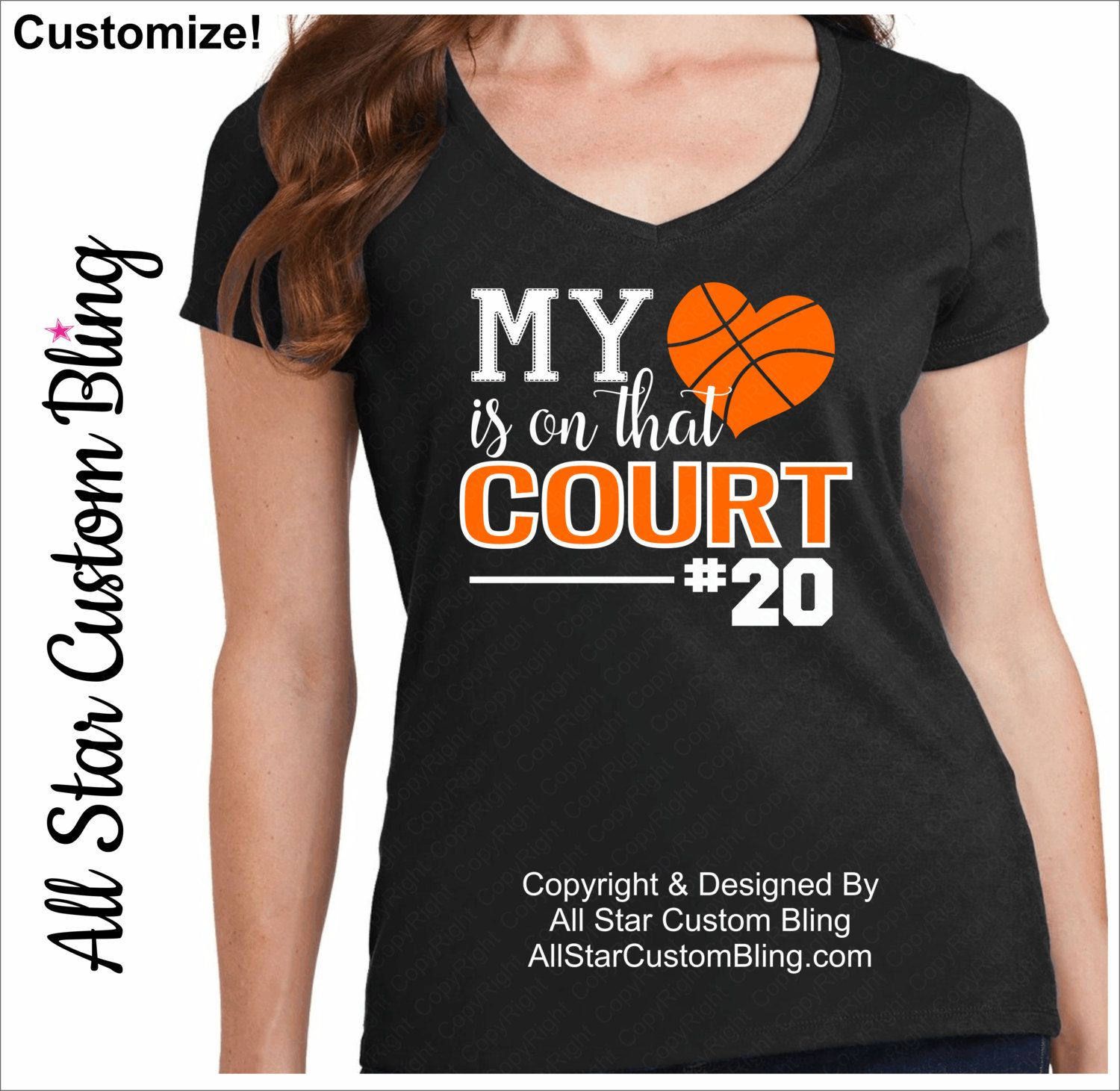 f62dd0c02 My Heart Is On That Court Basketball Shirt