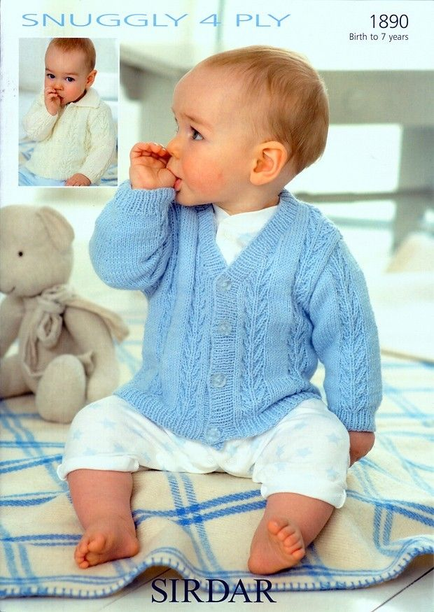 Cute Baby Cardigans V Neck And Collared Cardigans In Sirdar