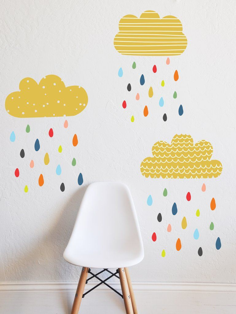 Colorful Rains Wall Decal In 2019 Stickers Room
