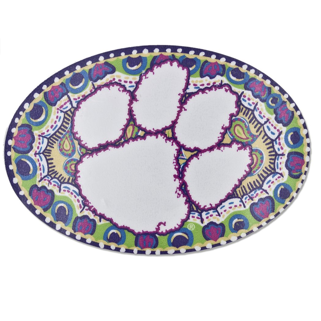 Clemson Tigers Painted Tiger Paw Decal clemson Tiger