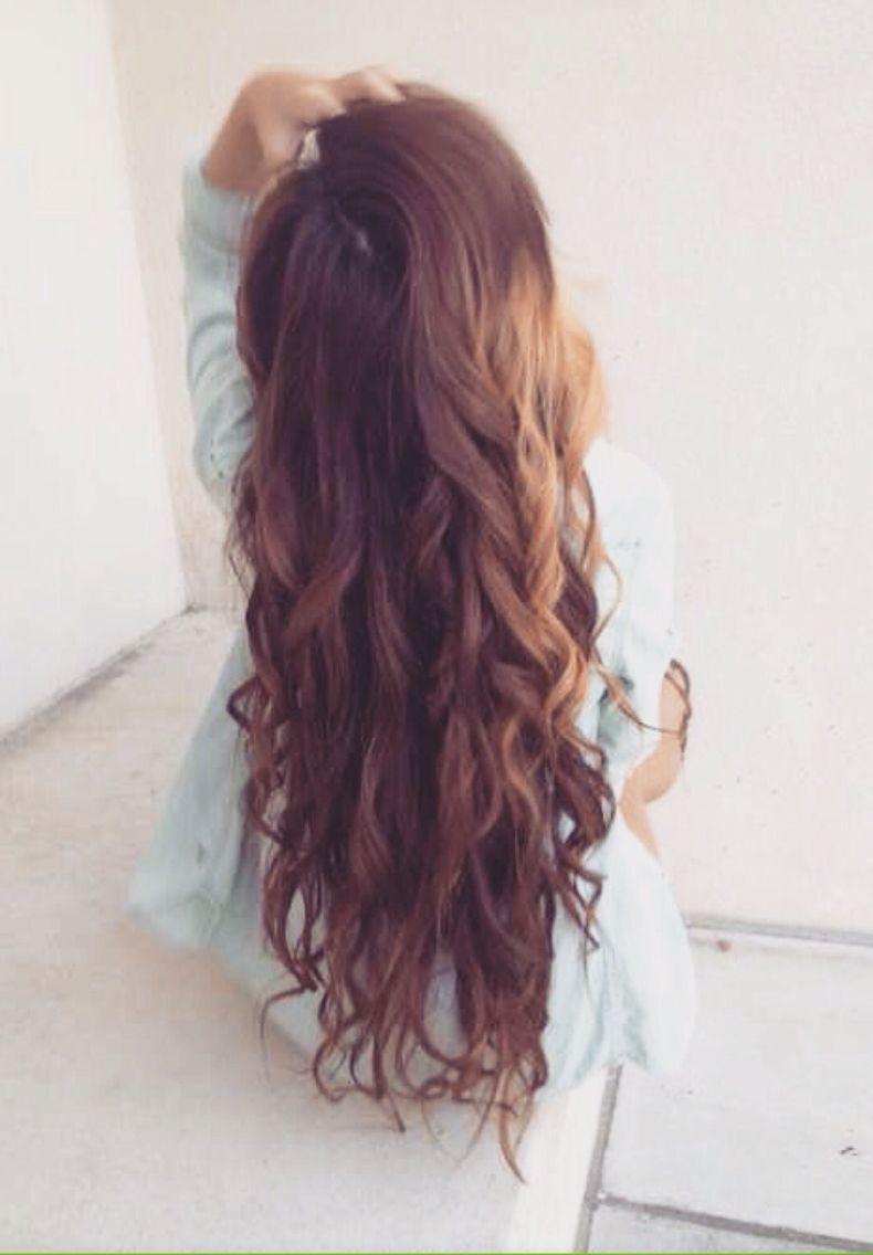 Cute curls  Dream hair  Pinterest  Burgundy hair Hair style and