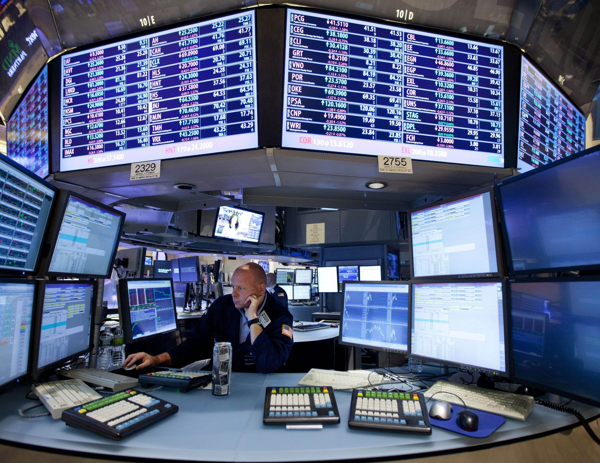 Nyse Floor Information Displays Offered Traders Simplified Graphics Allowing Individual Specialists To Configu Stock Market High Frequency Trading Wall Street