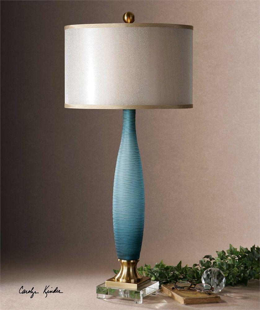 Uttermost Alaia Blue Glass Table Lamp h Art Pinterest Alaia