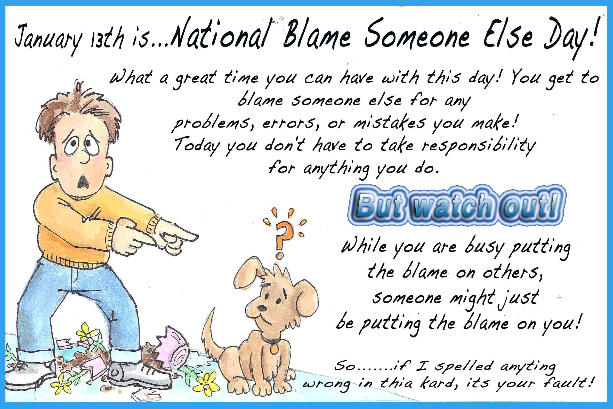 Blame Someone