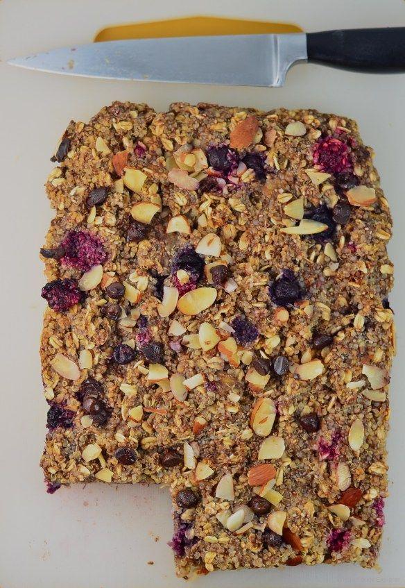 #Vegan Quinoa #Breakfast Bars recipe