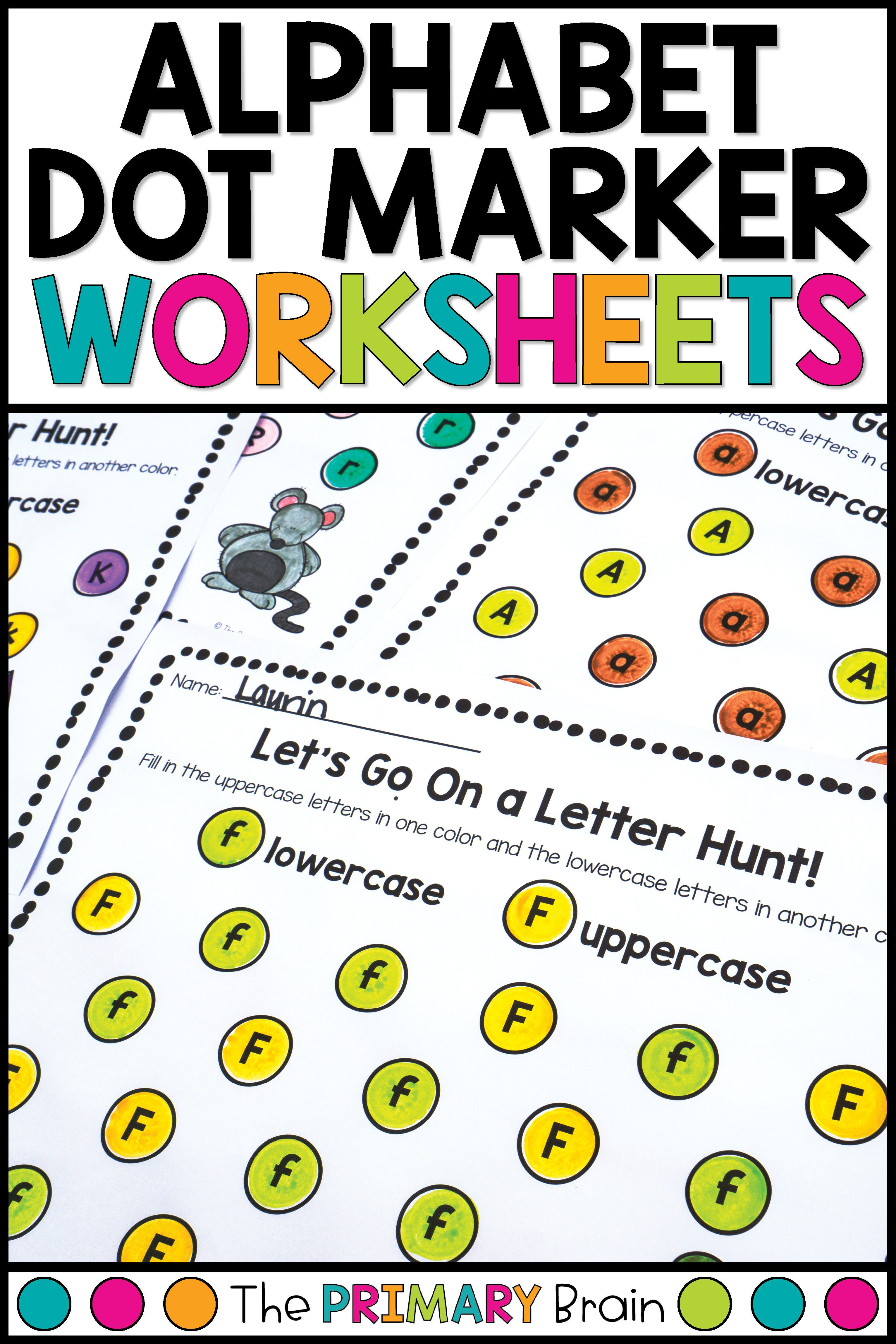 Dot Marker Uppercase And Lowercase Letter Worksheets
