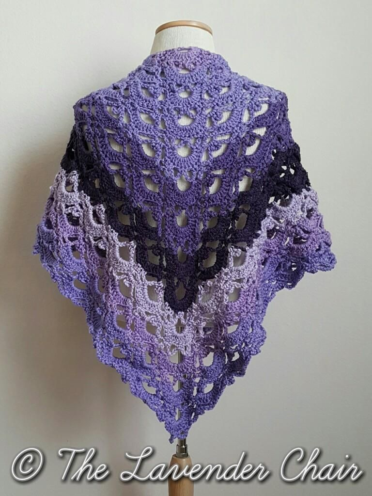 Mirrored Gemstone Lace Shawl - Free Crochet Pattern - The Lavender ...