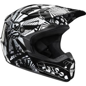 Fox V2 Camplosion Helmet Dirt Bike Girl Racing Gear Helmet