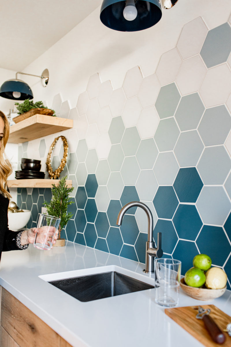 Pin On Hexagon Tiles In The Kitchen