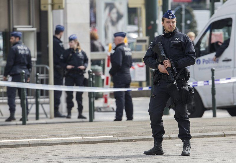Belgium counter terrorism prosecutors investigating the stabbing of 2 police officers