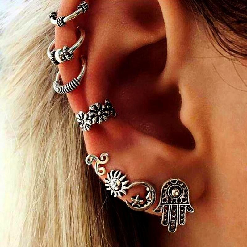 DV Jewels Triple Star Stud Earrings