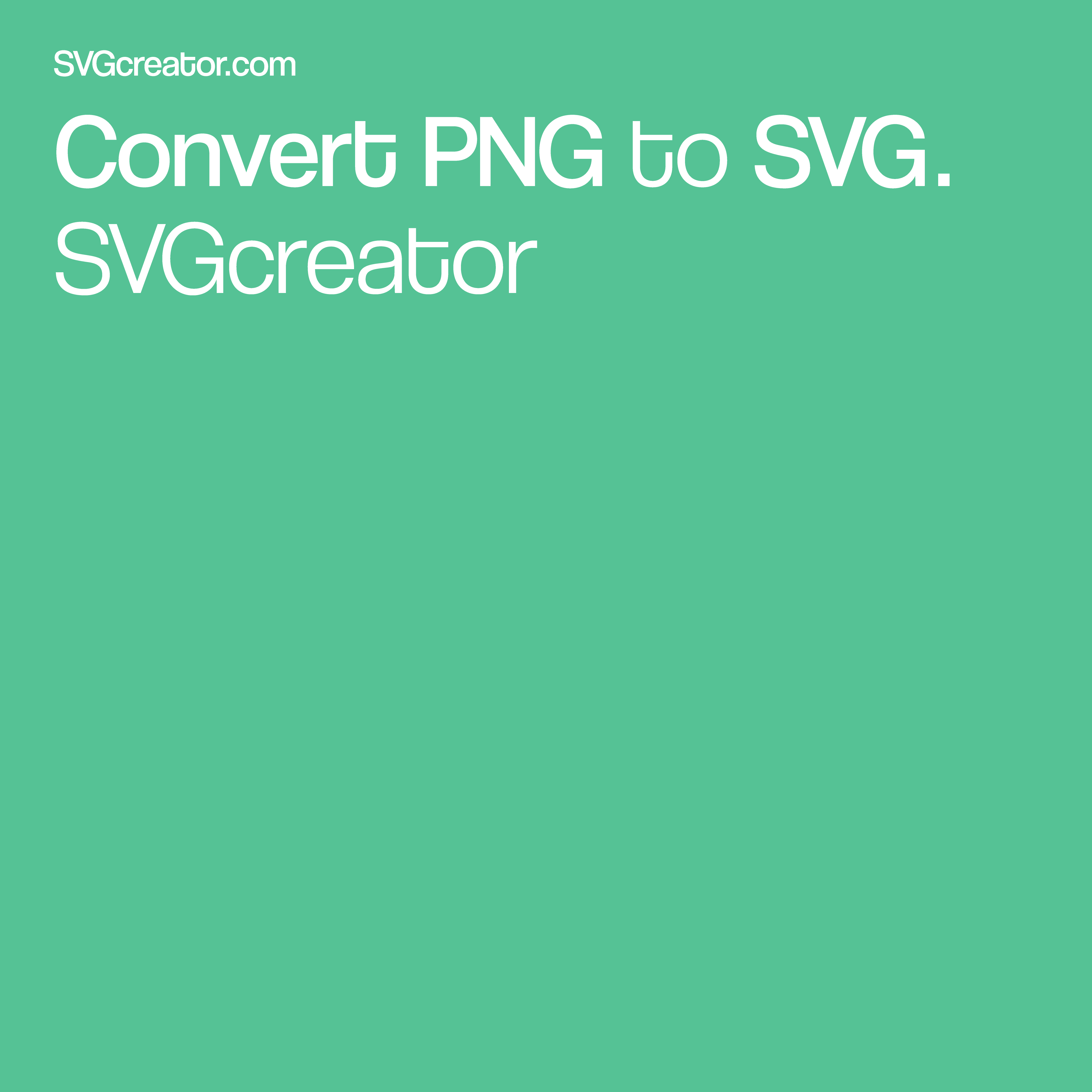 Easily convert your PNG to SVG format in one click using