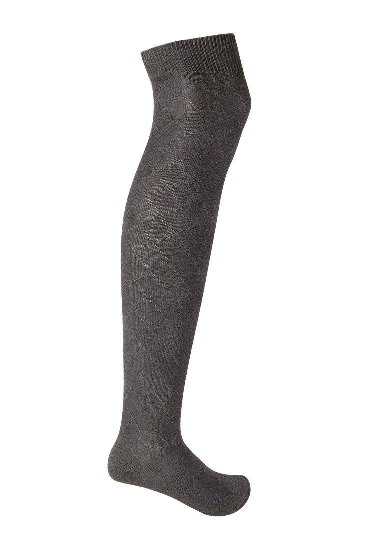 Diamond Knit Knee Socks   FOREVER21 - 2000102372