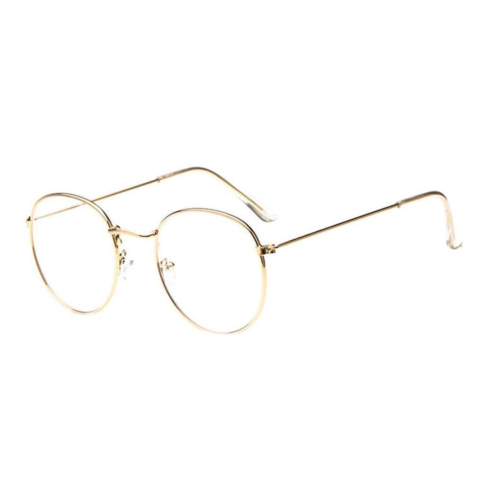 a068ced851484b  2.29 - Large Round Oversized Metal Frame Eyeglasses Glasses Lecture Clear  Lens  ebay  Fashion