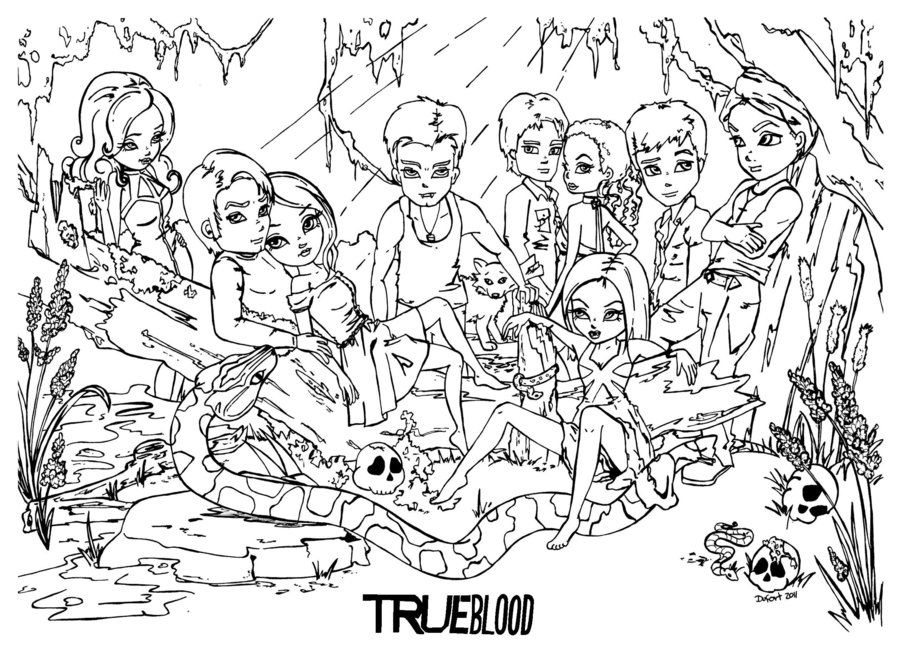 True Blood by *JadeDragonne | Printable Art/Coloring Pages ...