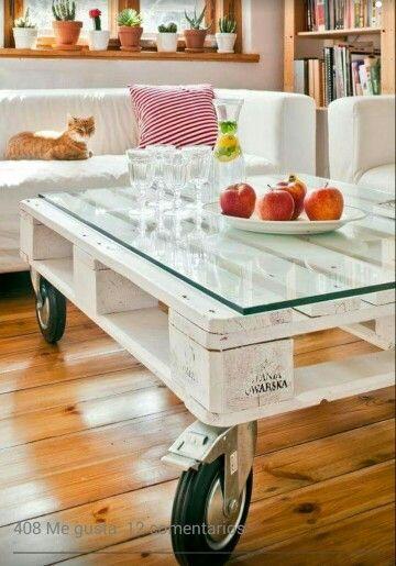Mesa de living con pallet