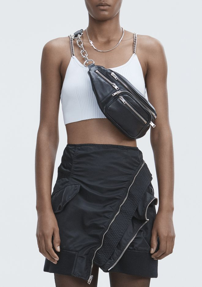 eac1fdcbca ALEXANDER WANG ATTICA FANNY PACK IN WASHED BLACK WITH RHODIUM Shoulder bag  Adult 12 n r