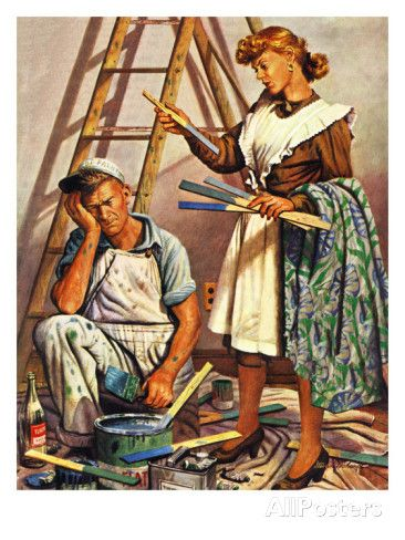 Picking The Right Color March 8 1947 Giclee Print Stevan Dohanos Allposters Com In 2021 Saturday Evening Post Covers Saturday Evening Post Norman Rockwell Art