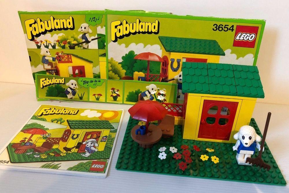 Lego Fabuland 3654 Country Cottage Instructions Box Parts 1982