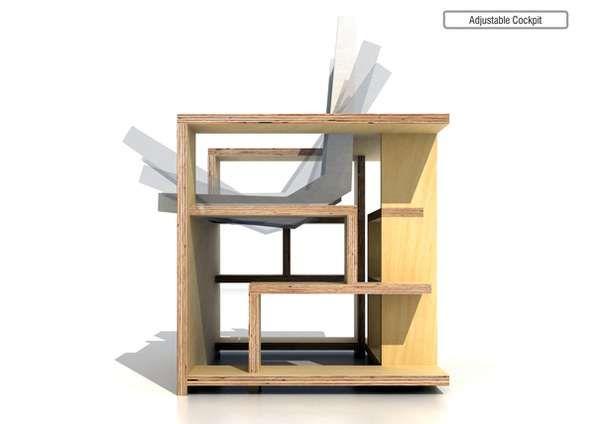 Bookcase Chair Gail Peter Borden Design Photo Section