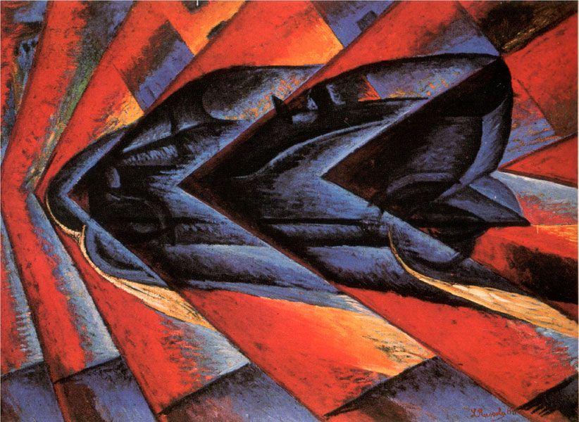 Les mouvements dans la peinture - Le futurisme   Futurism ...