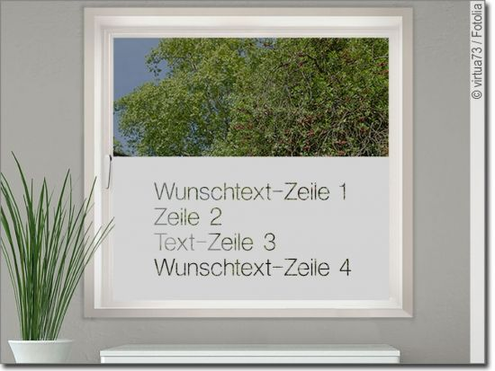 Sichtschutzfolie Wunschtext Blickdichte Fensterfolie Fensterfolie Sichtschutzfolie Folie
